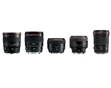 Set of 5x Canon Prime EF Lenses
